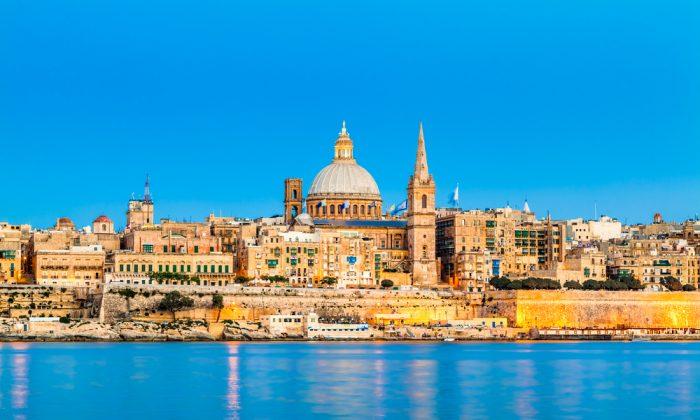 Valletta Skyline in the Evening, Malta via Shutterstock*