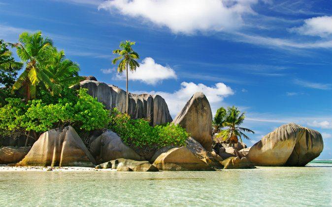 Granite rocky beaches on Seychelles islands- La digue via Shutterstock*