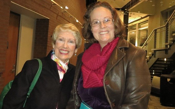 "Dorothy Maldarelli and her daughter Suzanne Maldarelli attended the Shen Yun performance at the University of North Florida Fine Arts Center on Jan. 24. ""The music and the dancing were able to translate the universal truths of loyalty, compassion, and kindness,"" Dorothy Maldarelli said. (Sally Sun/Epoch Times)"