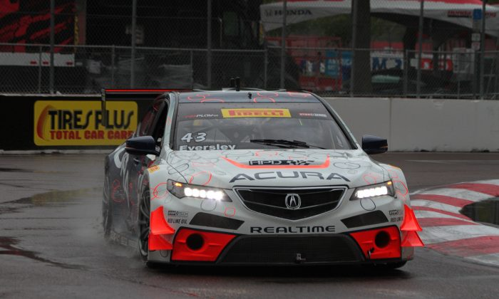 Ryan Eversley in the 343 RealTime Motorsports Acura TLX -GT qualified on the pole. (Chris Jasurek/Epoch Times)