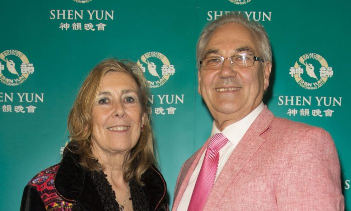 Joanne and Malcolm Lewis, who attended Shen Yun Performing Arts performance at the Birmingham ICC on March 28. (Simon Gross/NTD Television)