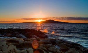 Visiting Rangitoto Island