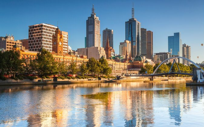 Melbourne skyline looking towards Flinders Street Station via Shutterstock*
