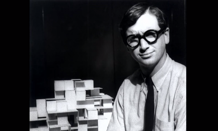 Architect and designer Michael Graves in a 1962 photograph. Graves passed away earlier this month. (YouTube screenshot)