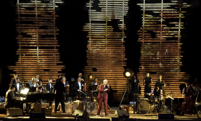 A scene from Annie Lennox's live concert, airing on PBS April 3, 2015. (PBS)