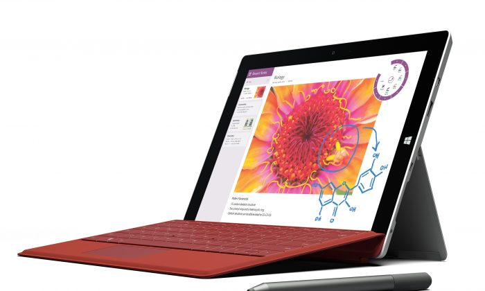 This product image provided by Microsoft shows the company's new Surface 3 tablet. Microsoft is making the cheaper version of its Surface Pro 3 tablet computer in an effort to reach more people. (AP/Microsoft)