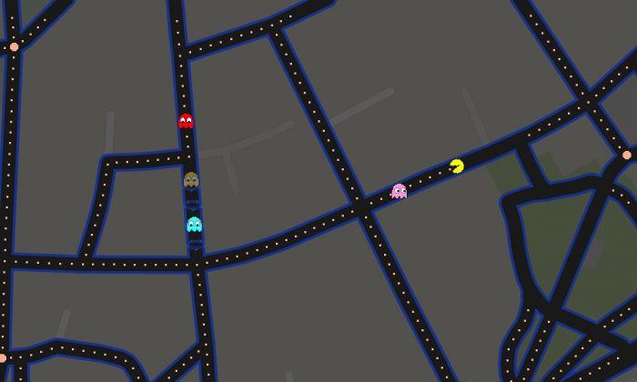 Pac-Man is about to die somewhere in Italy (Google Maps screenshot)