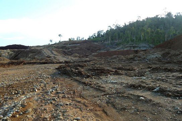 A forest area in Morowali, Central Sulawesi, that has been cleared by a mining company. Photo: Christopher Paino
