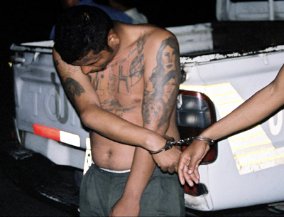 MS-13 suspect in custody. (Courtesy of FBI)