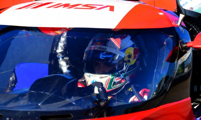 Memo Rojas behind the wheel of the DeltaWing (Bill Kent/Epoch Times)