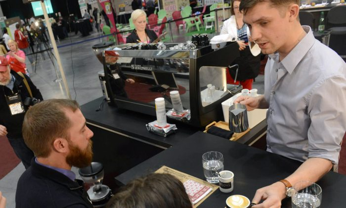 The U.S. Barista Championships in Boston on April 13, 2013. (Darren McCollester/Getty Images)