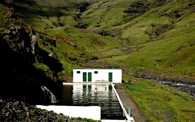 The oldest swimming pool in Iceland, out in the middle of nowhere. (Wade Shepard, Vagabond Journey)