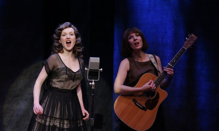 """Two of the folk singers in """"Lonesome Traveler"""""""