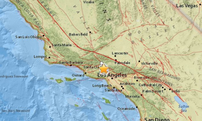 Three small earthquakes hit the Los Angeles metro area on Saturday morning, centered around Granada Hills. (Google Maps)