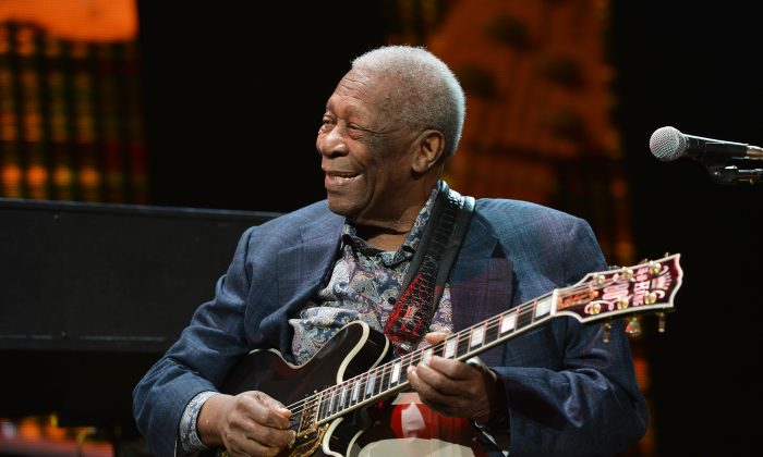 B.B. King performs on stage during the 2013 Crossroads Guitar Festival at Madison Square Garden on April 12, 2013 in New York City.  (Photo by Larry Busacca/Getty Images)