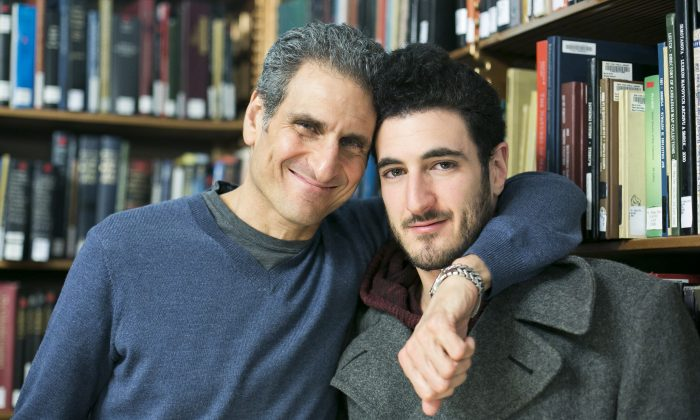 Joseph and Jared Cohen at the New York Public Library on March 26, 2015. (Samira Bouaou/Epoch Times)