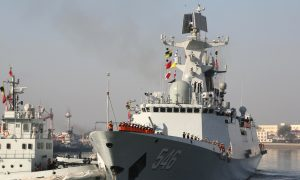 After Evacuation, China Stations Warships in North Africa