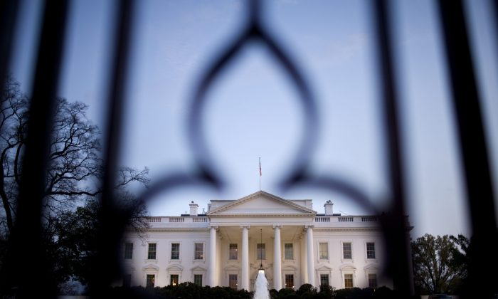 An evening view of the White House March 22, 2012 in Washington, DC. (Brendan  Smialowski/AFP/Getty Images)