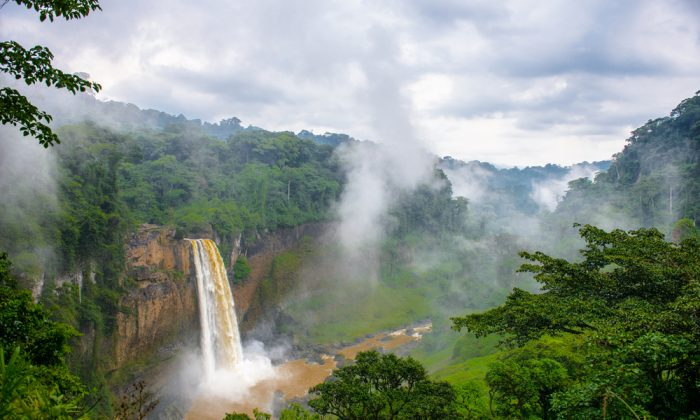Water fall in Cameroon on a cloudy day via Shutterstock*