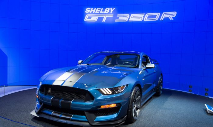 The New 2016 Ford Shelby 350R at the 2015 New York National Auto Show. (Larry Dye/Epoch Times)