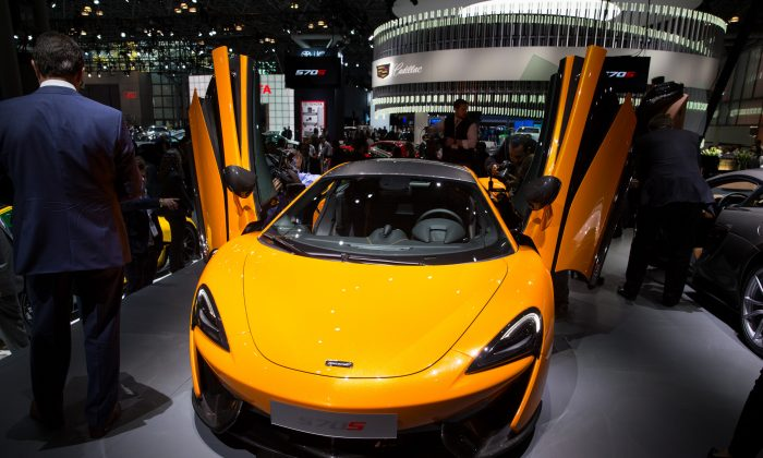 The 2016 McLaren 570S at the New York National Auto Show. (Larry Dye/Epoch Times)