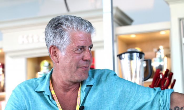 Anthony Bourdain, in a file photo, is set to open a much-anticipated food market in New York City in 2016. (Aaron Davidson/Getty Images for Food Network SoBe Wine & Food Festival)