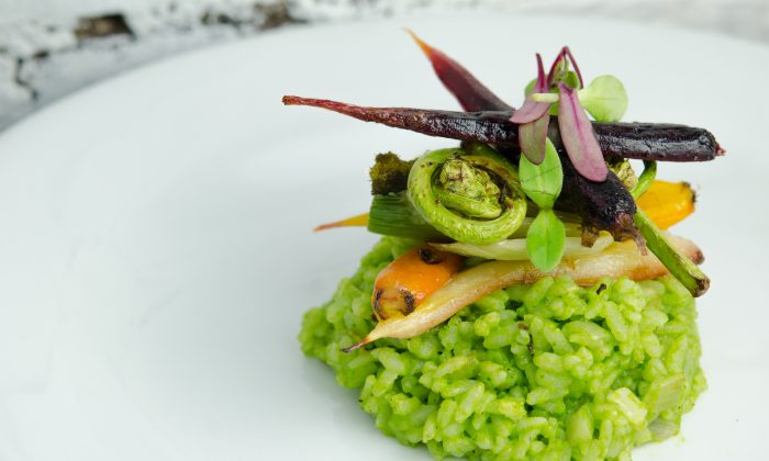 Fiddlehead Risotto from Blossom. (Alex James Etling)