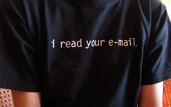 The government can't read your email, but it will be able to find out where you sent it to and from. (Paul Downey/Flickr, CC BY 4.0)