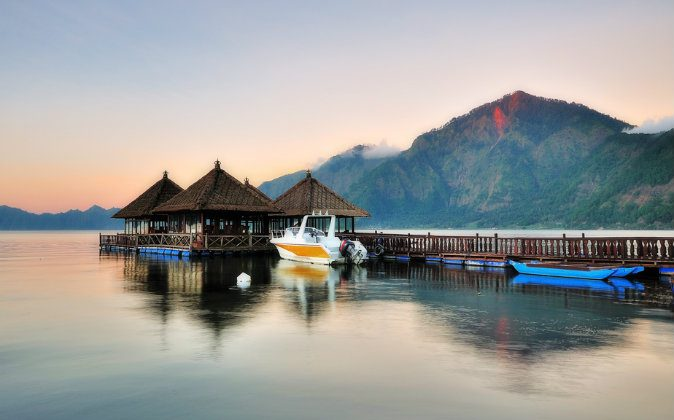 Floating resort in Kintamani Bali via Shutterstock*