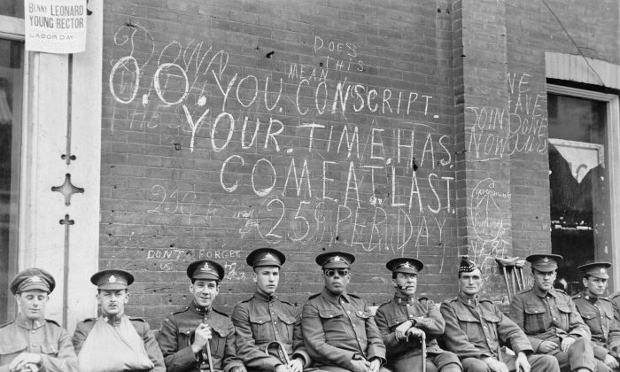 The introduction of conscription in 1917 exposed and fuelled profound divisions among Canadians from coast to coast. (Courtesy Canadian War Museum)