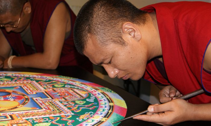 Tibetan Sand Mandala Creation. (San Jose Library, CC BY-SA 2.0)