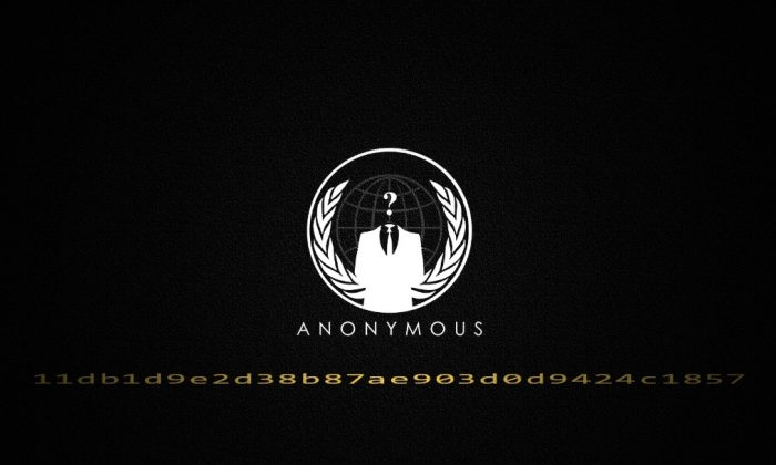 A logo of the hacker collective, Anonymous. The group of hacker-activists are attacking government and police websites in China. (Anonymous)