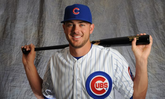 Chicago Cubs farmhand Kris Bryant was nearly everyone's minor league player of the year in 2014 after hitting 43 home runs between AA and AAA. (Rich Pilling/Getty Images)