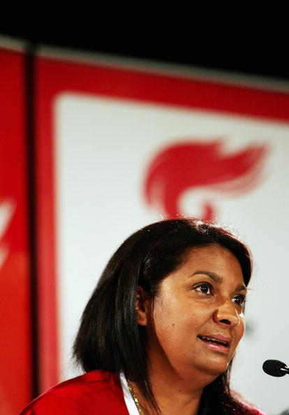 Former Olympian Nova Peris at the National Convention Centre in 2008 in Canberra, Australia.  (Lisa Maree Williams/Getty Images)