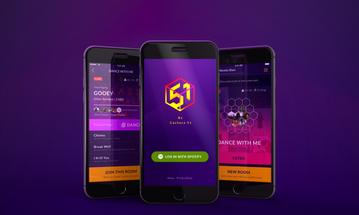 Screenshots of free mobile app DJ-51 which debuted on iTunes and Android last month. (DJ-51)