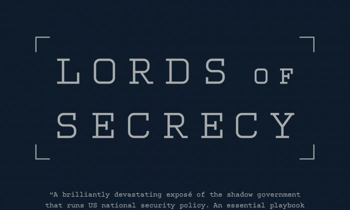 'Lord of Secrecy' book jacket. [Designed by Cynthia Young, Nation Books.]