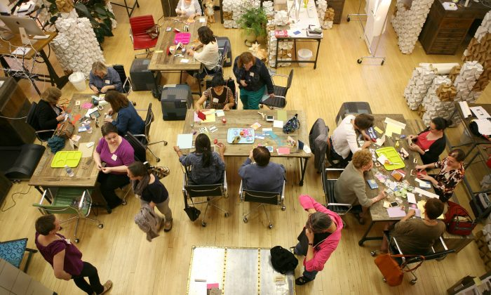 People who participate in arts and craft activities and who socialize in middle and old age may delay the development in very old age of the thinking and memory problems that often lead to dementia, according to a new study. (Juhan Sonin, CC BY 2.0)