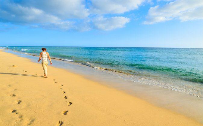 Beach in Morro Jable, Fuerteventura island, Spain via Shutterstock*