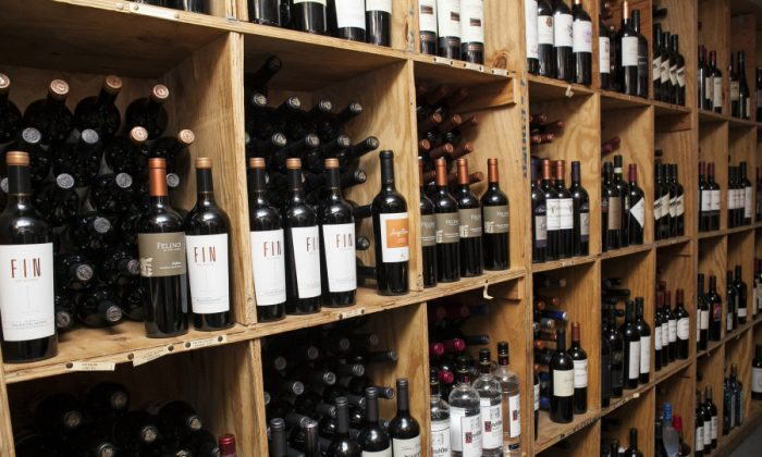Wine selection (Samira Bouaou/Epoch Times)