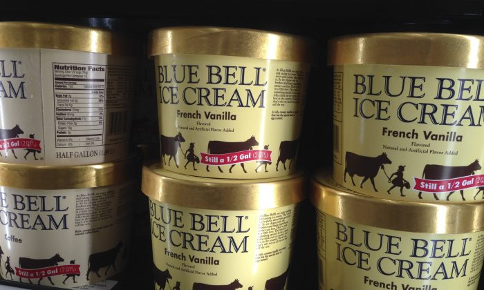 Blue Bell ice cream in a file photo. (Orlin Wagner/AP Photo)