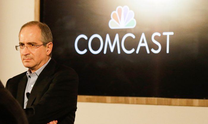 Comcast Corporation chairman & CEO Brian Roberts speaks at a Comcast presentation at the Contemporary Jewish Museum in San Francisco, Wednesday, Nov. 12, 2014. (AP Photo/Jeff Chiu)