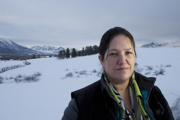 Marilyn Baptiste, 2015 Goldman Environmental Prize winner for North America, led the Xeni Gwet'in community in defeating one of the largest proposed gold and copper mines in British Columbia that would have destroyed Fish Lake—a source of spiritual identity and livelihood for the Xeni Gwet'in. Photo courtesy of the Goldman Environmental Prize.