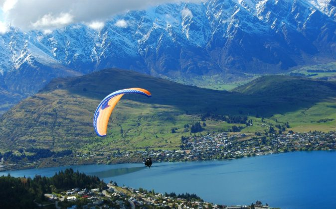Queenstown parachute via Shutterstock*