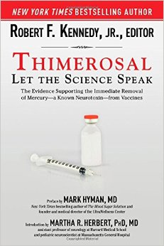 "Robert F. Kennedy Jr. Book Cover for ""Thimerosal."" [Cover design by Brian Peterson; cover image from Thinkstock.]"