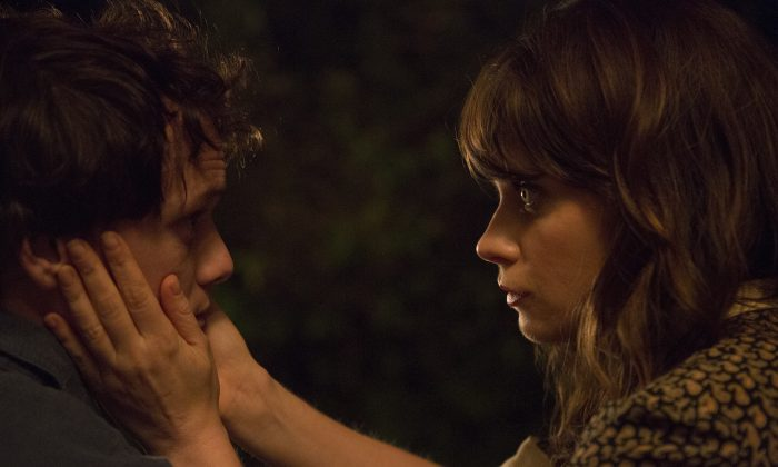"Anton Yelchin as ""Pierre"" and Zooey Deschanel as ""Stella"" in ""The Driftless Area."" (Bron studios)"