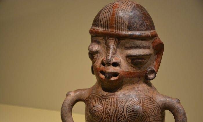 Greater Nicoya female figure AD 800–1350. Pottery, clay slip, paint. (National Museum of the American Indian)