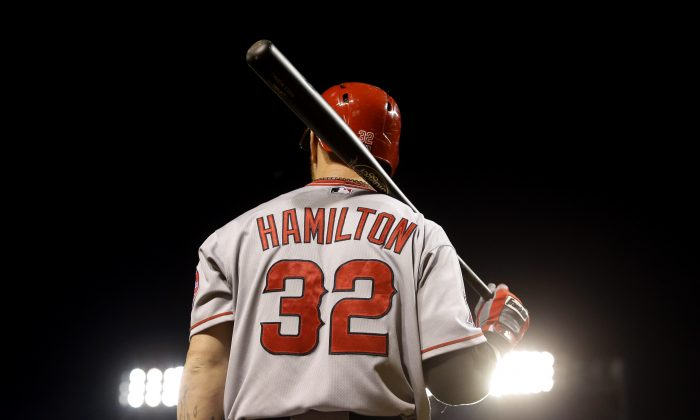 The Los Angeles Angels gave Josh Hamilton a $125 million contract to help anchor their lineup. It didn't work out so well and now he's back in Texas, while the Angels are still paying him not to play for them. (AP Photo/Patrick Semansky)