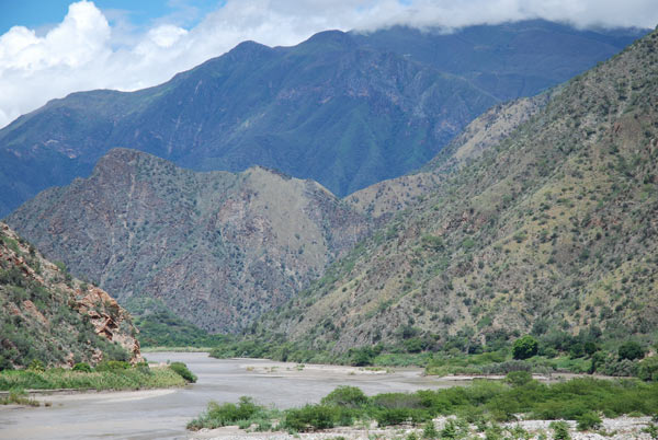 'The Marañón River in Peru where the government is proposing more than 20 dams on the main trunk.'. Photo credit: David Hill