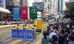 Falun Gong Commemorates April 25 Peaceful Protest With Marches in Hong Kong
