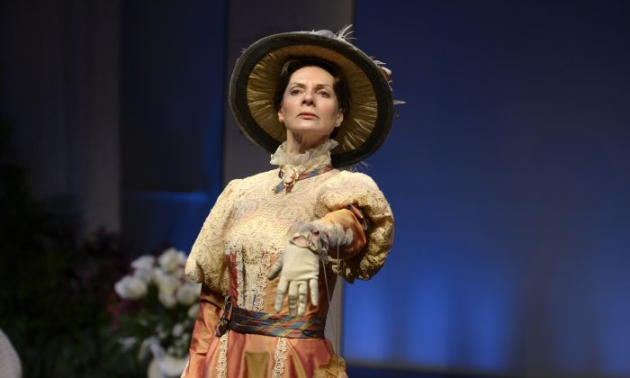 "Jean Stilwell as Lady Bracknell in the TOT's production of ""Earnest, The Importance of Being,"" 2015. (Gary Beecher)"